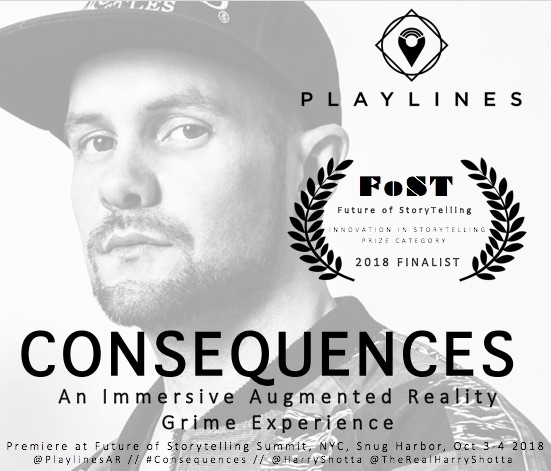 Harry Shotta posing on album cover for consequences, the augmented reality musical experience.